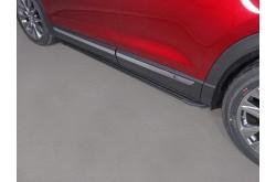 Пороги алюминиевые Slim Line Black Mazda CX-9 2017