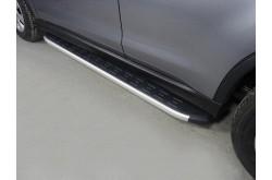 Пороги алюминиевые Mitsubishi ASX рестайлинг