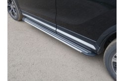 Пороги алюминиевые Slim Line Silver Mitsubishi Eclipse Cross