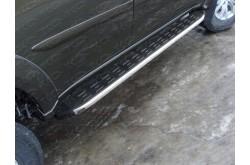 Пороги алюминиевые Mitsubishi Pajero Sport 2 рестайлинг