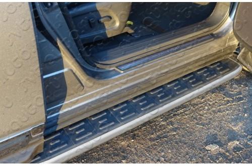 Пороги алюминиевые Nissan Pathfinder R52