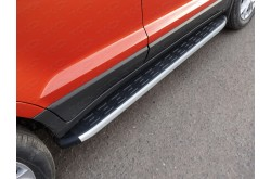 Пороги алюминиевые Nissan Qashqai
