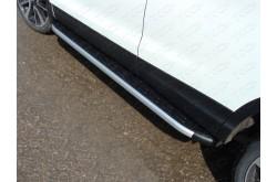 Пороги алюминиевые Nissan Qashqai 2