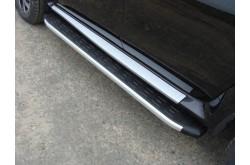 Пороги алюминиевые Nissan Terrano