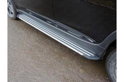 Пороги алюминиевые Slim Line Silver Subaru XV