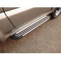 Пороги алюминиевые Slim Line Silver Suzuki Jimny