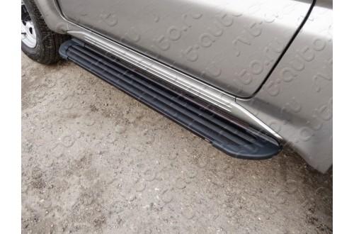 Пороги алюминиевые Slim Line Black Suzuki Jimny 3
