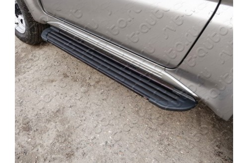 Пороги алюминиевые Slim Line Black Suzuki Jimny