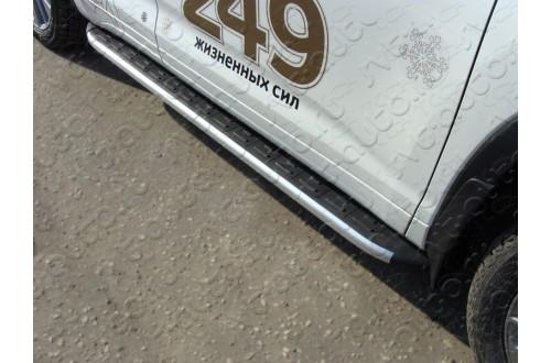 Пороги алюминиевые Toyota Highlander 3