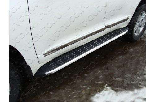 Пороги алюминиевые Toyota Land Cruiser 200 2015