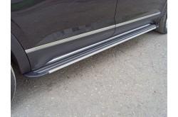 Пороги алюминиевые Slim Line Silver Volkswagen Teramont