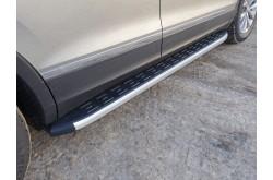 Пороги алюминиевые Volkswagen Tiguan 2017
