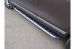 Пороги алюминиевые Volkswagen Touareg 2