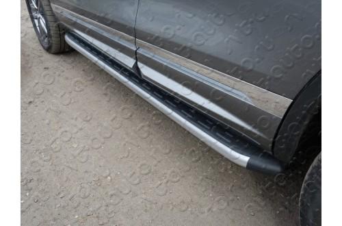 Пороги алюминиевые Volkswagen Touareg 2 R-Line