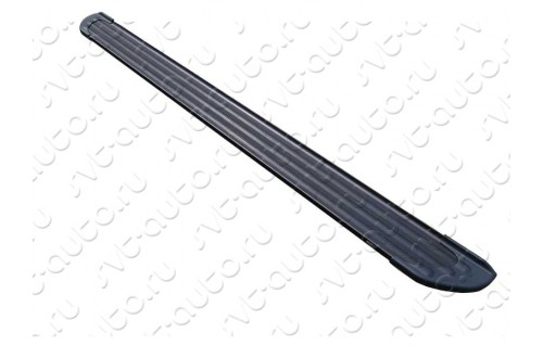 Пороги алюминиевые Slim Line Black Volkswagen Touareg 2 R-Line