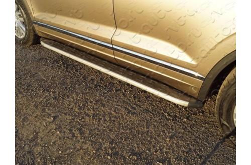 Пороги алюминиевые Volkswagen Touareg 3