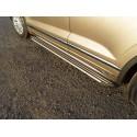 Пороги алюминиевые Slim Line Silver Volkswagen Touareg 3