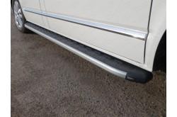 Пороги алюминиевые Volkswagen Transporter T6 Long
