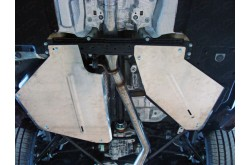 Алюминиевая защита бензобака Audi Q7 4M