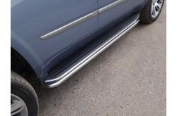 Защита штатных порогов Cadillac Escalade 4