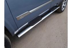 Пороги овальные с проступью Cadillac Escalade 4