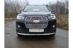 Защита переднего бампера Chevrolet Captiva рестайлинг