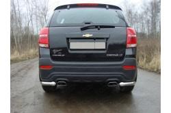 Уголки заднего бампера Chevrolet Captiva рестайлинг