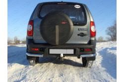 Уголки заднего бампера Chevrolet Niva