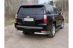 Уголки заднего бампера двойные Chevrolet Tahoe 4
