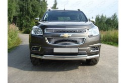 Защита переднего бампера двойная Chevrolet TrailBlazer