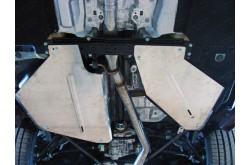 Алюминиевая защита бензобака Audi Q8