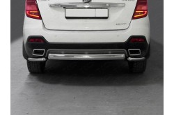 Защита заднего бампера Lifan X60