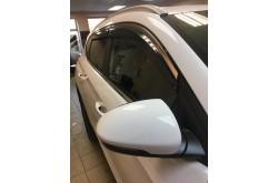 Дефлекторы окон с нержавеющим молдингом Hyundai Tucson 3