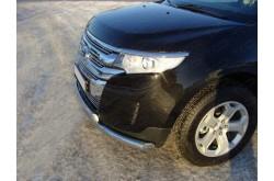 Защита переднего бампера двойная Ford Edge