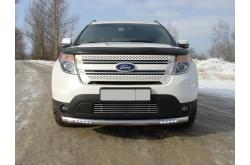 Защита переднего бампера с ДХО Ford Explorer 5