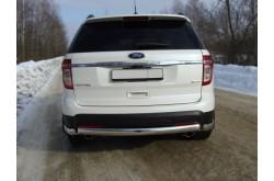 Защита заднего бампера Ford Explorer 5