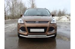 Защита переднего бампера двойная Ford Kuga 2