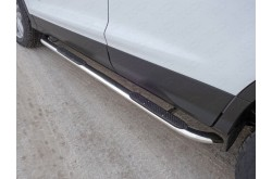 Пороги гнутые овальные с накладкой Ford Kuga 2 рестайлинг