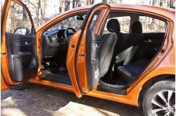 Накладки на внутренние пороги дверей KIA Rio 4 седан