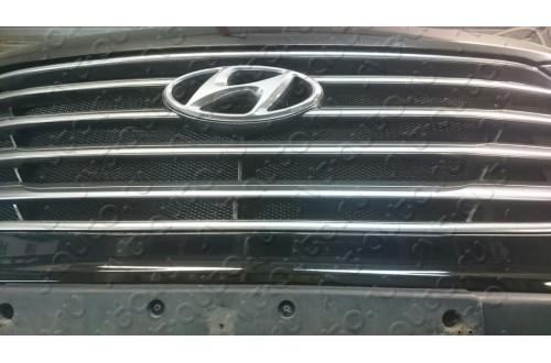 Сетка в бампер Hyundai Santa Fe 3 с установкой