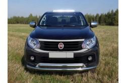 Защита переднего бампера двойная Fiat Fullback
