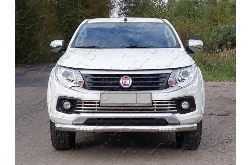 Защита переднего бампера с ДХО Fiat Fullback