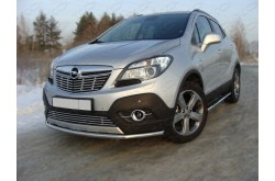 Защита переднего бампера Opel Mokka