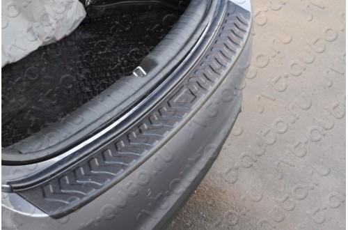 Накладка на задний бампер Hyundai Solaris 2 седан