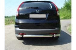 Защита заднего бампера овальная Honda CR-V 4