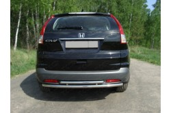 Защита заднего бампера двойная Honda CR-V 4