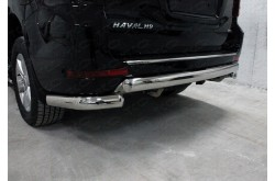 Защита заднего бампера Haval H9