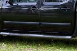 Молдинги дверей Nissan Navara D40 узкие