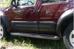 Молдинги дверей Nissan Pathfinder R51 широкие