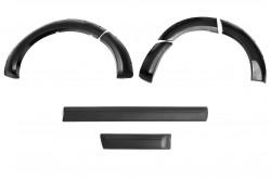 Комплект расширителей колесных арок с молдингами на двери Nissan Pathfinder R51 узкие